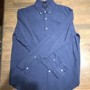 Heather Navy J Crew Mercantile button down shirt